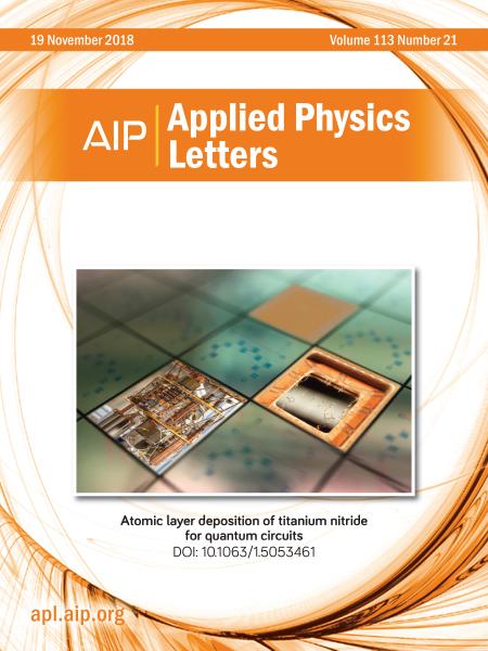 Atomic layer deposition of titanium nitride for quantum circuits