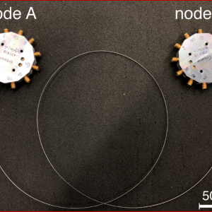 Two nodes in a quantum computing system